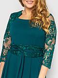 Нарядное платье Кэрол изумруд, фото 4