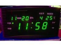 Настольные электронные LED часы, календарь, термометр, будильник Caixing CX 838, фото 1