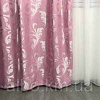 Готовый комплект штор из жаккарда ALBO 150x270 cm (2 шт) Розовые (SH-C32-13), фото 7
