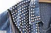 Женская джинсовая куртка с бахромой, размеры 42-44, 46-48, фото 2