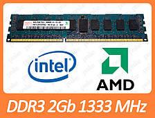 Серверна DDR3 2GB 1333 MHz (PC3-10600R) різні виробники
