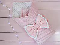 """Конверт одеяло на выписку 2 в 1 """"Розовая нежность"""" 2634"""
