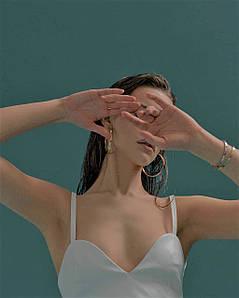 Топ жіночий екокожа з підкладкою AniTi 622, білий