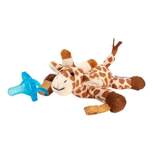 Цельная силиконовая пустышка, Dr. Brown's в комплекте с игрушкой Жираф, 0–12 мес