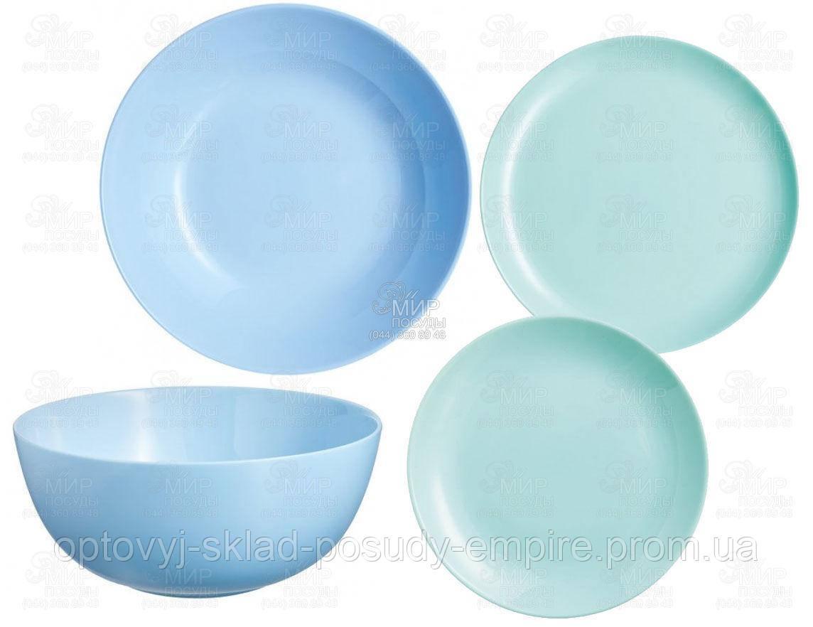 Сервиз столовый 19пр Luminarc Diwali Light Blue P2961