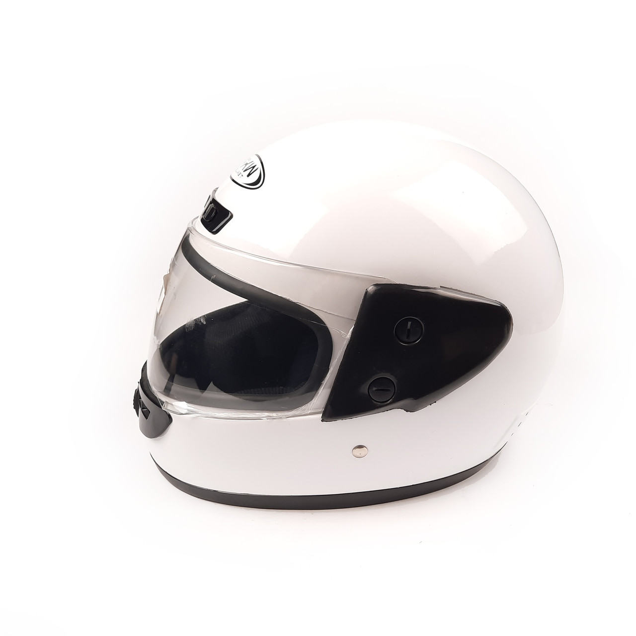 Шлем закрытый HF-101 (size: M, белый глянцевый)