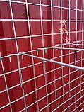 Торговая сетка решетка ячейка 10 см серый металлик под заказ от производителя, фото 2