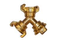 IMITATE Тройник байонетный, ЛАТУНЬ, GKI334CT