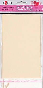 Заготовки для открыток 952236 10х20см кремовый Santi