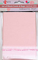 Заготовки для открыток 952246 10х15см розовый перламутр Santi