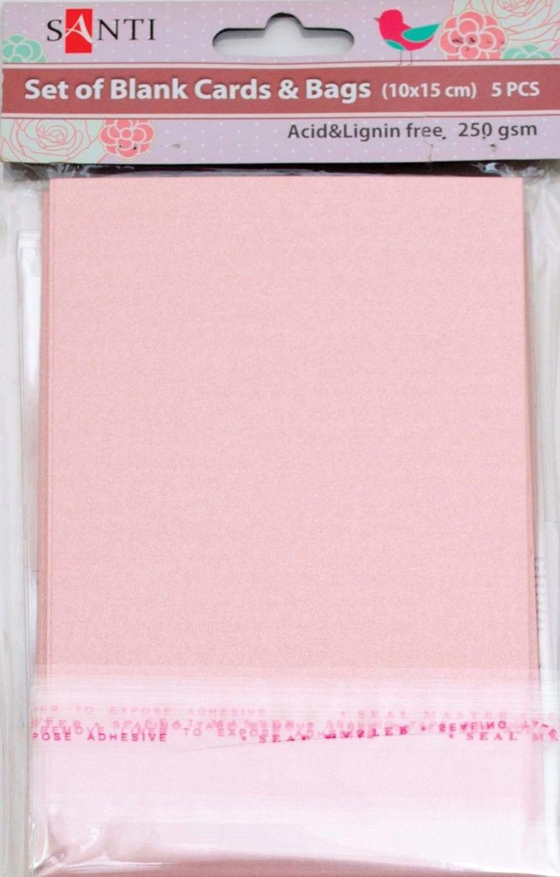 Заготовки для открыток 952246 10х15см розовый перламутр Santi - erniboom market в Херсоне