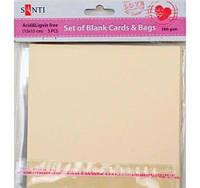 Заготовки для открыток 952234 15х15см кремовый Santi