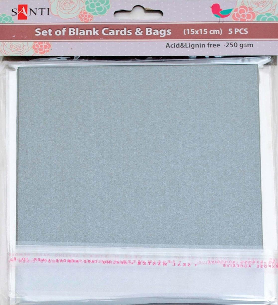 Заготовки для открыток 952248 15х15см серебро перламутр Santi - erniboom market в Херсоне