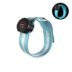 Світлодіодний LED браслет безпеки Lesko HY-0907 Blue для бігу і велоспорту