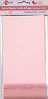 Заготовки для открыток 952266 10х20см розовый перламутр Santi