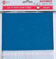 Заготовки для открыток 952278 15х15см темно- синий Santi