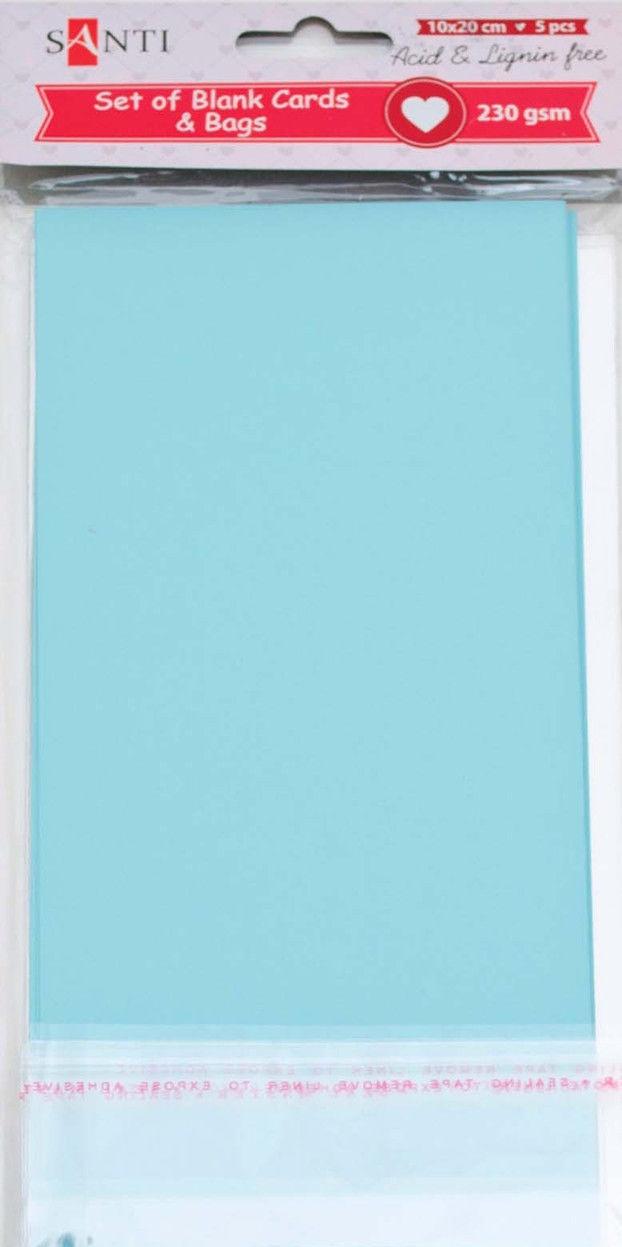 Заготовки для открыток 952290 10х20см голубой Santi