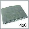 Тент 4*6 м, готовые размеры в ассортименте, плотный 130 г/м2 серебряный с УФ-защитой