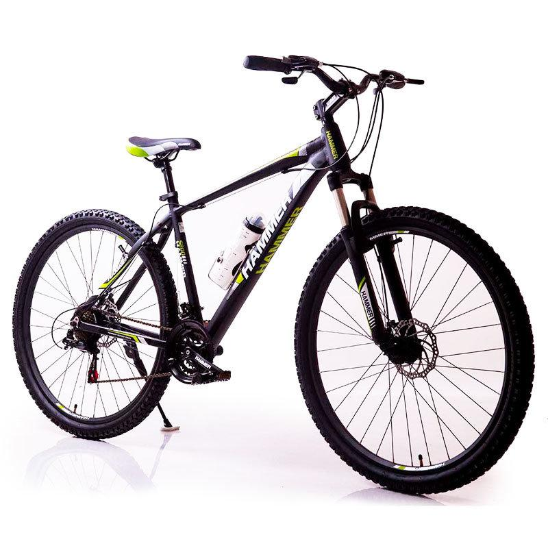 """Горный велосипед Hammer S200 R26"""" 17"""" алюминиевый с дисковыми тормозами (Черно-салатовый)"""