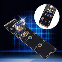Райзер переходник M2 to USB 3.0 под райзер M-2 to PCI-E 4x Riser м2 до майнинг