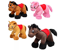 Мягкая игрушка Лошадь MP 0636  4 цвета, муз, 28см