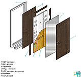 Двері вхідні SteelArt Акцент New DN-1 МДФ/МДФ Дуб шимо світлий ліва чи права, фото 6