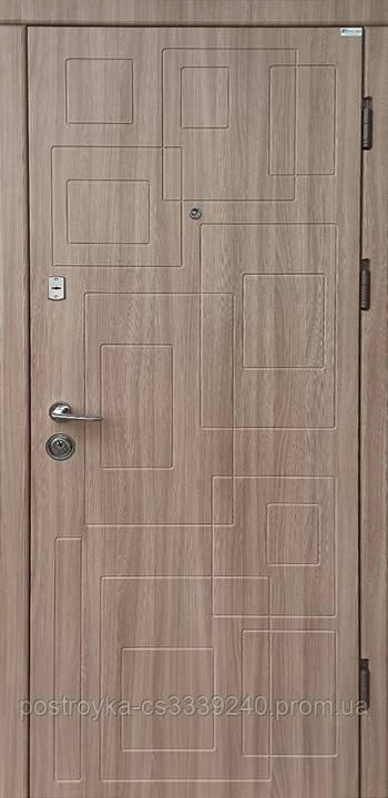 Двері вхідні SteelArt Акцент New DN-1 МДФ/МДФ Дуб шимо світлий ліва чи права