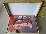 Комплект постельного белья ELWAY (Польша) 3D LUX Сатин Евро Подарочная упаковка (285), фото 2