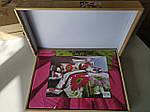 Комплект постільної білизни ELWAY (Польща) 3D LUX Сатин Євро Подарункова упаковка (174), фото 3