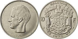 Бельгія 10 Франків 1970 рік