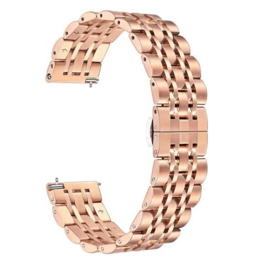 Браслет для Amazfit Stratos | Pace | GTR 47mm Ремешок 22мм Link стальной Розовое Золото BeWatch (1022438)