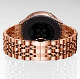 Браслет для Amazfit Stratos | Pace | GTR 47mm Ремешок 22мм Link стальной Розовое Золото BeWatch (1022438), фото 4