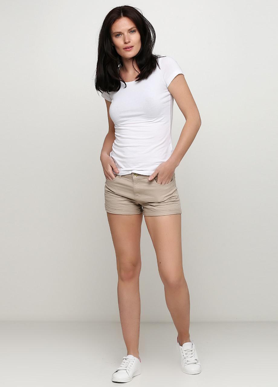 Женские шорты H&M 36(165/68) бежевый