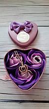 Подарунковий набір мило для ванни Троянди + Кулон Я Тебе Люблю на 100 мовах