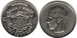 Бельгія 10 Франків 1971 рік