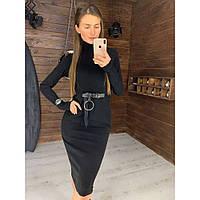 Модное классическое женское платье приталенного силуэта