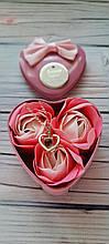 Подарунковий набір мило для ванни Троянди + Кулон Я Тебе Люблю на 100 мовах світу