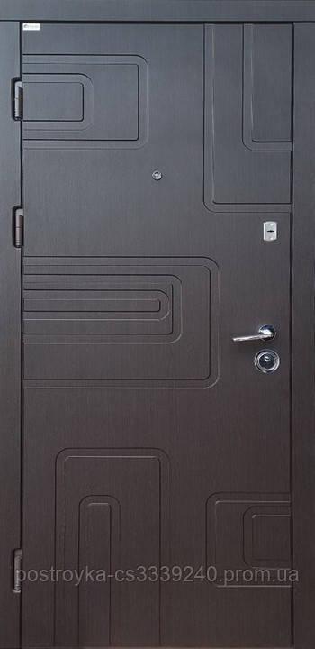 Дверь входная SteelArt Акцент Лайт DG-40 МДФ/МДФ Венге южное левая или правая