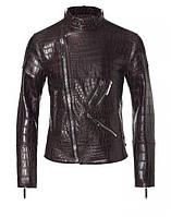 Мужская кожаная куртка из крокодила