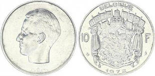 Бельгія 10 Франків 1972 рік