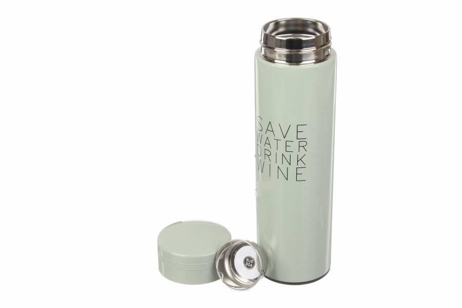 Термос Save water, drink wine, светло-зеленый 61-2876