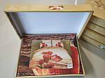 Комплект постельного белья ELWAY (Польша) 3D LUX Сатин Евро Подарочная упаковка (239), фото 3