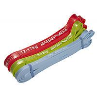 Еспандер-петля (гума для фітнесу і спорту) SportVida Power Band 3 шт 0-17 кг SV-HK0190-1