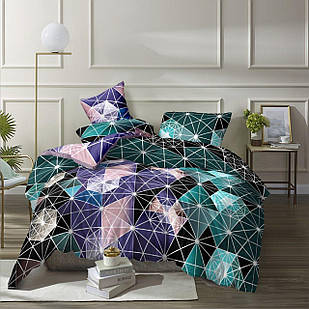 Постельный набор Комплект постельного белья алмазы Бязь Gold размер 150х215 см