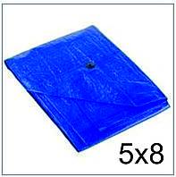 Тент Тарпаулин 5*8 синий 75 г/м2, размер 5х8 м.