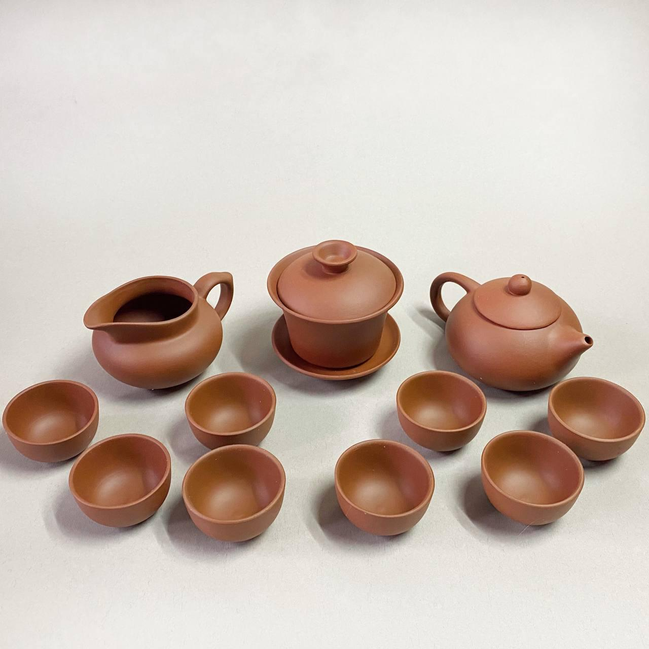 Набор чайной посуды из иссинской глины