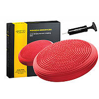 Балансувальна подушка (сенсомоторна) масажна 4FIZJO MED+ 4FJ0052 Red