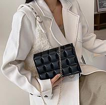 Стильная стеганная сумка клатч оригинального дизайна, фото 3