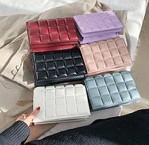 Стильна стьобаний сумка клатч оригінального дизайну, фото 2