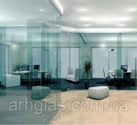 Цельностеклянная перегородка Цельностеклянные перегородки из закаленного стекла